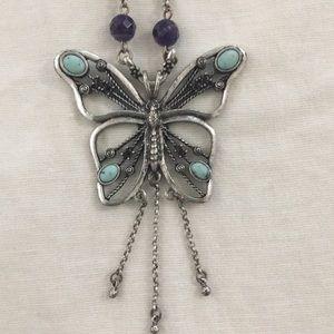 Lucky Brand Butterfly Necklace
